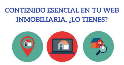 web inmobiliaria marketing contenido